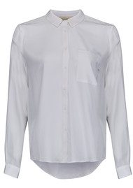 American Vintage Riswell Silk Shirt - Blanc