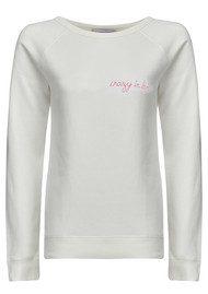 MAISON LABICHE Crazy in Love Sweater - Snow