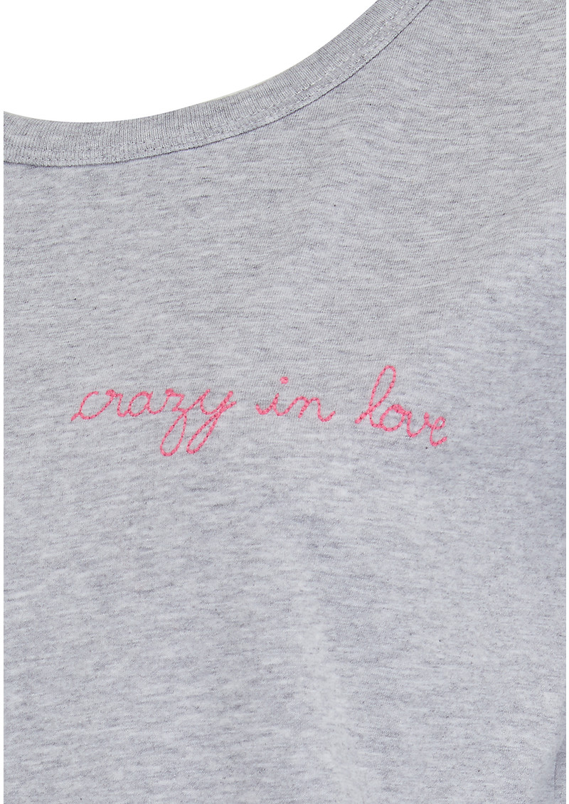 Crazy in Love Cotton Tee - Grey main image