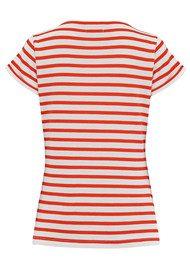 MAISON LABICHE Cherie Cotton Top - White & Red