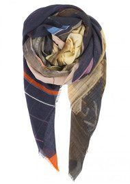 Becksondergaard Printemps Wool Scarf - Peacoat