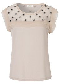 NOTES DU NORD COMING SOON Amelie Embellished Top - Nude