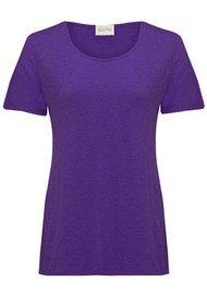 American Vintage Jacksonville Round Neck T-shirt - Dark Purple