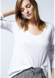 American Vintage Jacksonville Long Sleeved T-Shirt - Pearl Melange