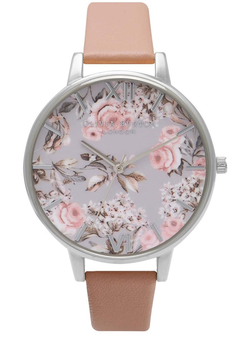 Olivia Burton Enchanted Garden Watch - Dusty Pink & Silver main image