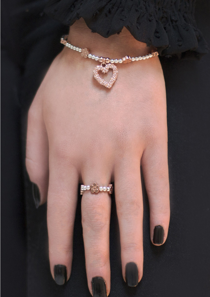 ChloBo Love You More Ring - Silver & Rose Gold main image