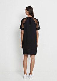 SAMSOE & SAMSOE Mouton Short Sleeve Dress - Black