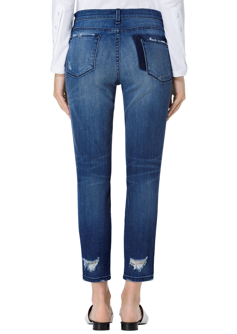 Sadey Mid Rise Slim Straight Jeans - Gone main image