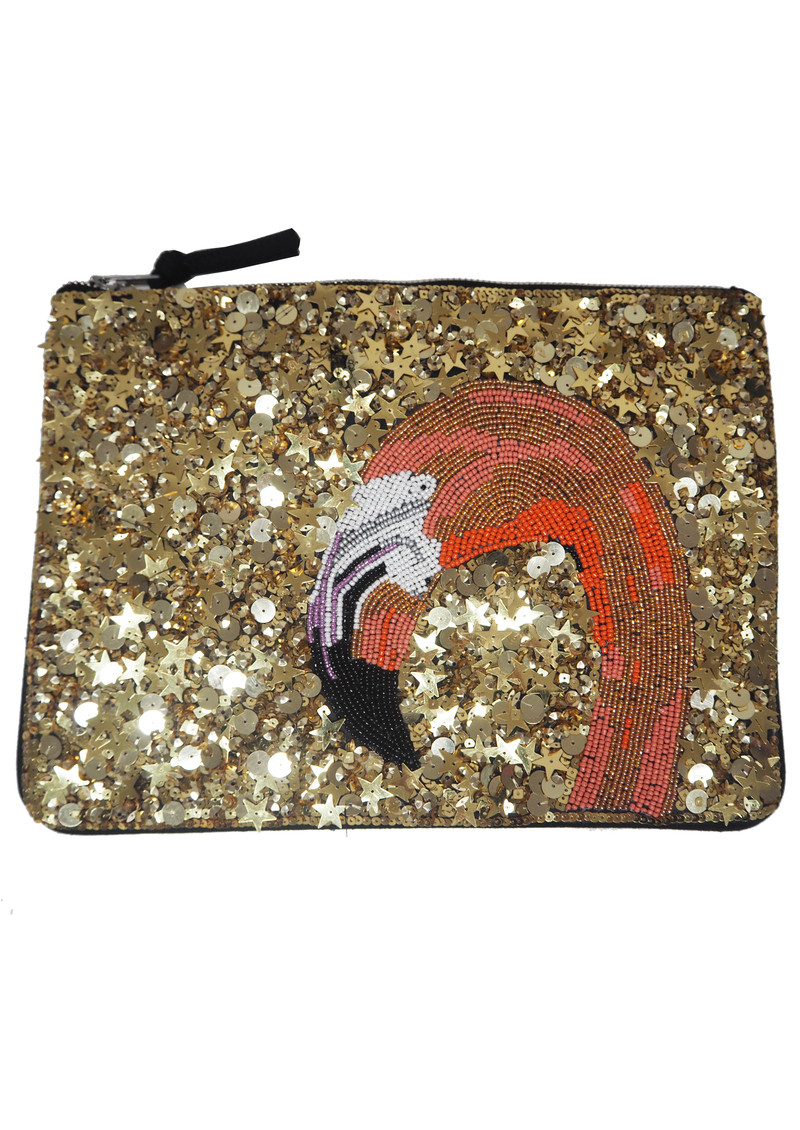 Nophelia Sequined Clutch Bag - Wax Yellow  main image