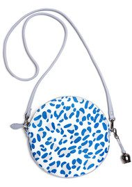 BELL & FOX Round Crossbody Pony Bag - Lupine Blue Leopard