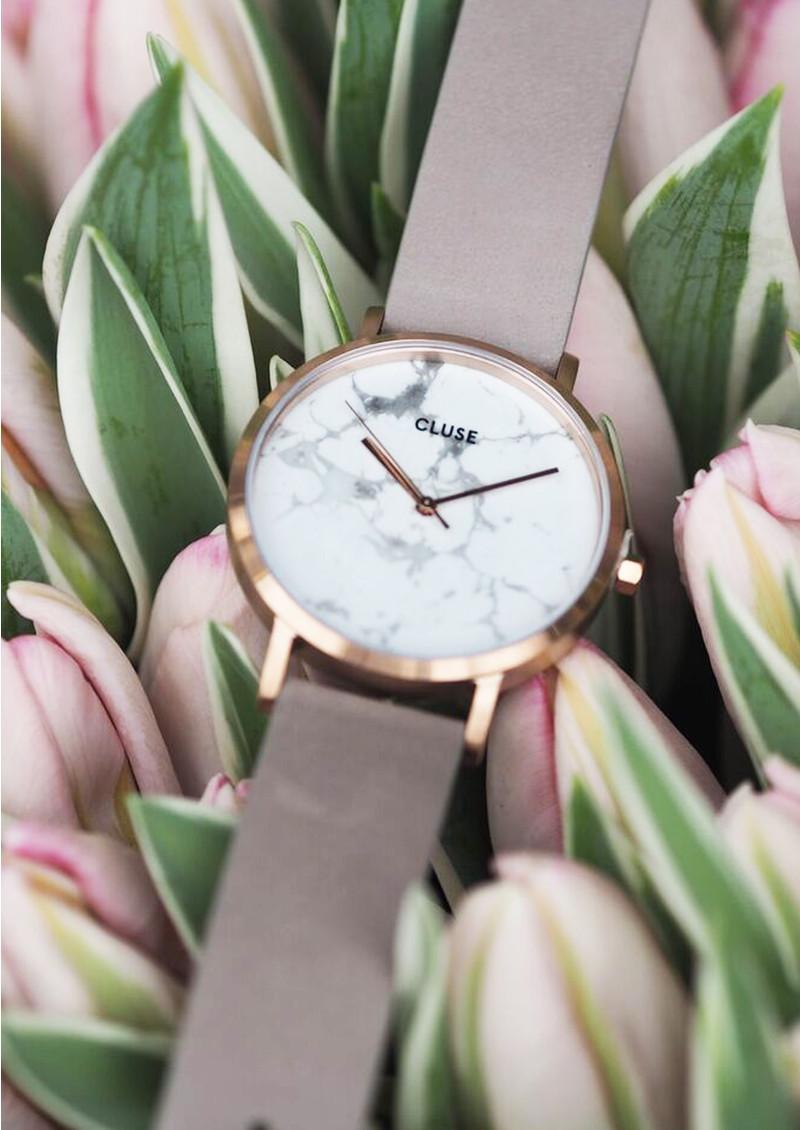 CLUSE La Roche Rose Gold Watch - Grey & White main image