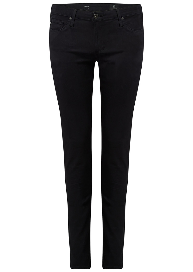 AG JEANS The Stilt Cigarette Sateen Jeans - Black main image
