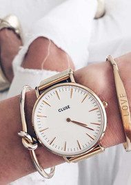 CLUSE La Boheme Mesh Watch - Gold & White