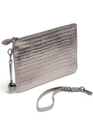BELL & FOX Wristlet Clutch - Pewter Croc