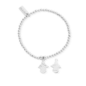 Cute Charm Made For An Angel Bracelet - Silver