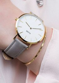 CLUSE La Boheme Gold Watch - White & Grey