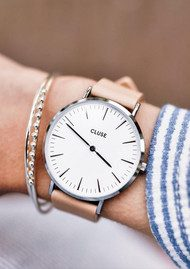 CLUSE La Boheme Watch - White & Nude