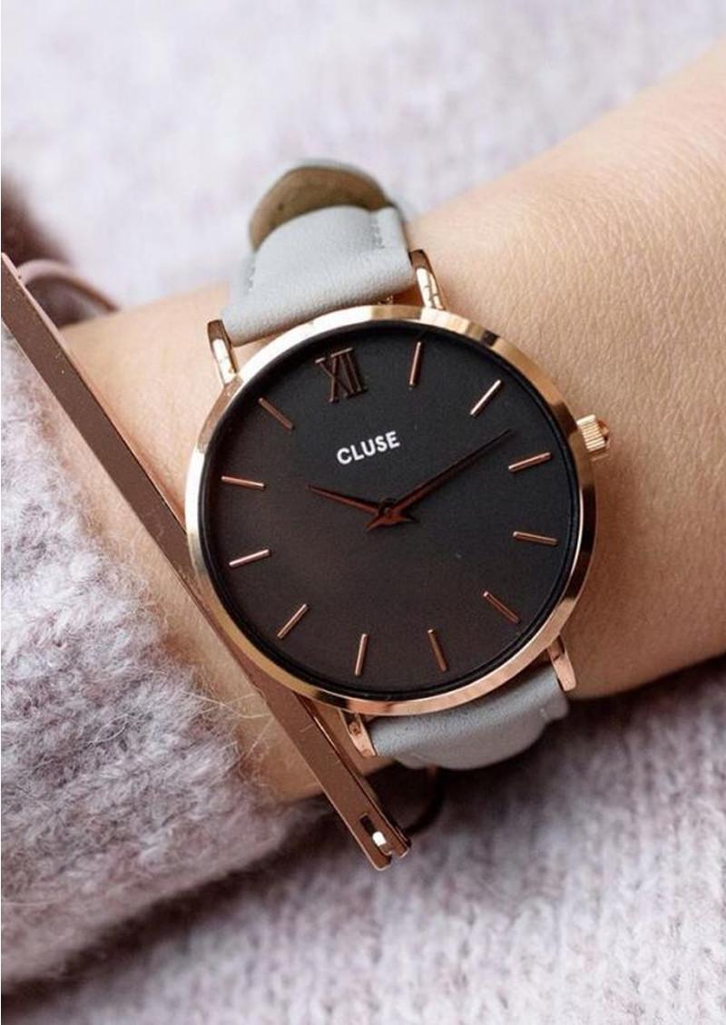 Minuit Rose Gold Watch - Black   Grey main image 9cb61db560