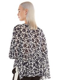 Essentiel Naynay Floral Blouse - Atlantic Deep