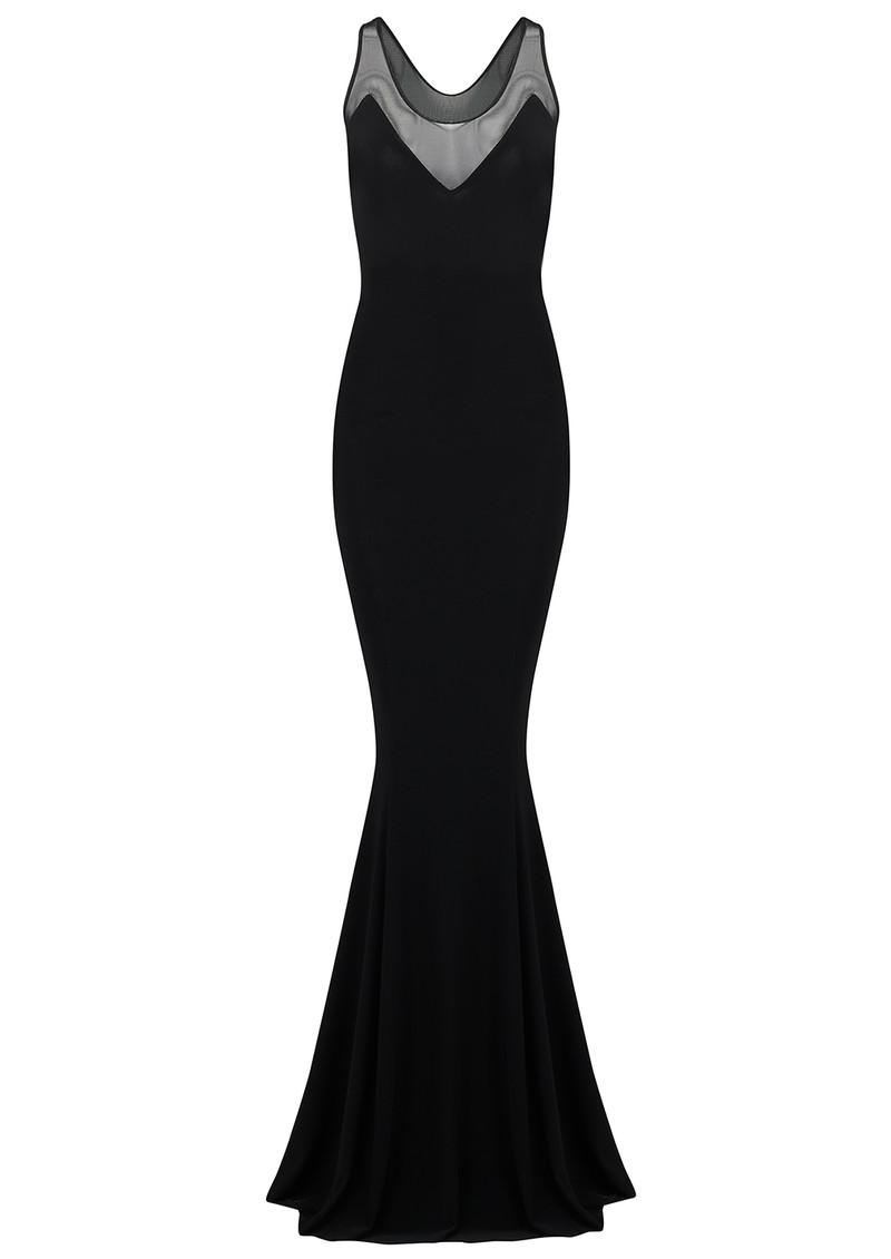 KAMALI KULTURE Racer Fishtail Mesh Dress - Black main image