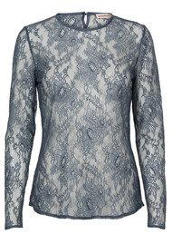 CUSTOMMADE Izabel Lace Top - Grisaille Blue