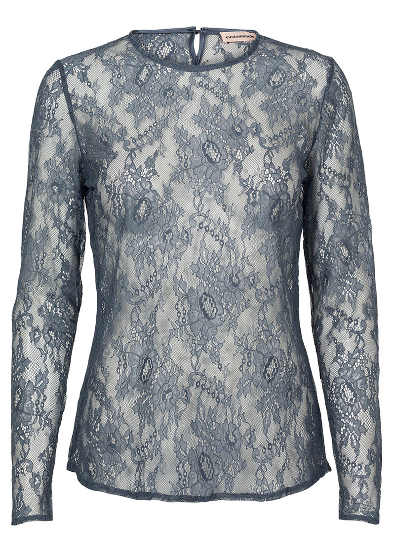 CUSTOMMADE Izabel Lace Top - Grisaille Blue main image