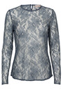 Izabel Lace Top - Grisaille Blue additional image