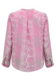 Mercy Delta Hale Long Sleeve Silk Top - Python & Skinny Dip