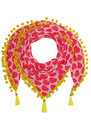 Athena Pom Pom Scarf -  Cherry Pie additional image