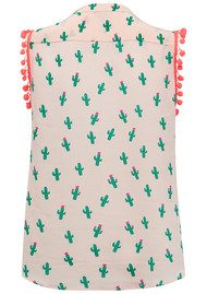 Mercy Delta Hampton Sleeveless Pom Pom Top - Cactus & Beach Babe