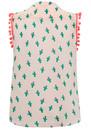 Mercy Delta Hampton Sleeveless Pom Pom Top - Cactus & Beach Babe