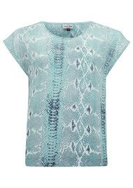Mercy Delta Blair Python Top - Sea Breeze