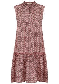 SACKS Silk Printed Dress - Ash Rose