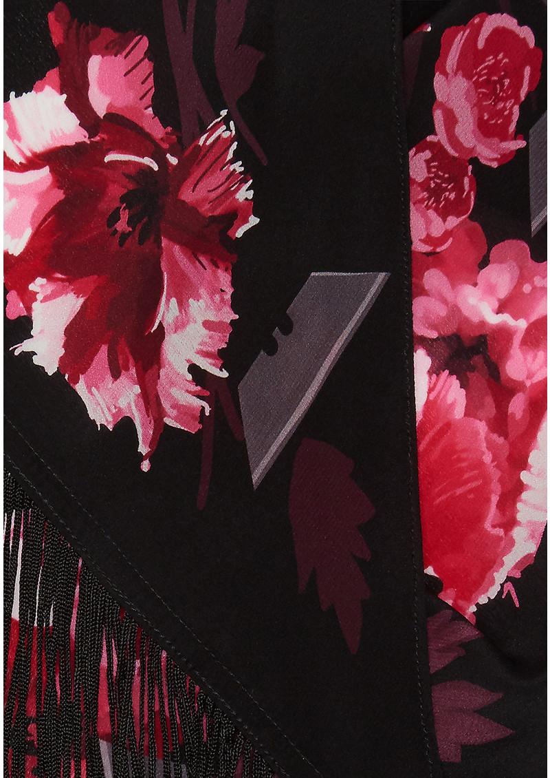 ROCKINS Flora Classic Skinny Fringed Scarf - Pink main image