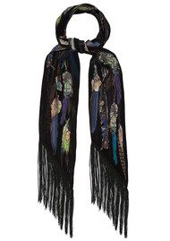 ROCKINS Feathers Skinny Scarf - Black