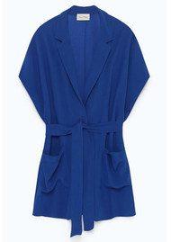 American Vintage Holiester Sleeveless Blazer - Cobalt Blue