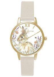 Olivia Burton Vegan Friendly Woodland Bunny Watch - Nude & Gold