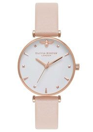 Olivia Burton Queen Bee T-Bar Watch - Nude Peach & Rose Gold