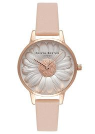 Olivia Burton Flower Show 3D Daisy Watch - Nude Peach & Rose Gold