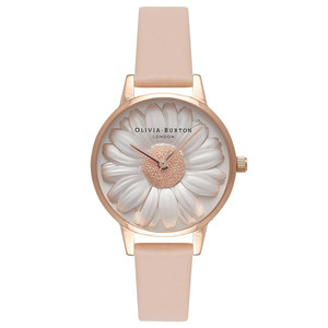 Flower Show 3D Daisy Watch - Nude Peach & Rose Gold