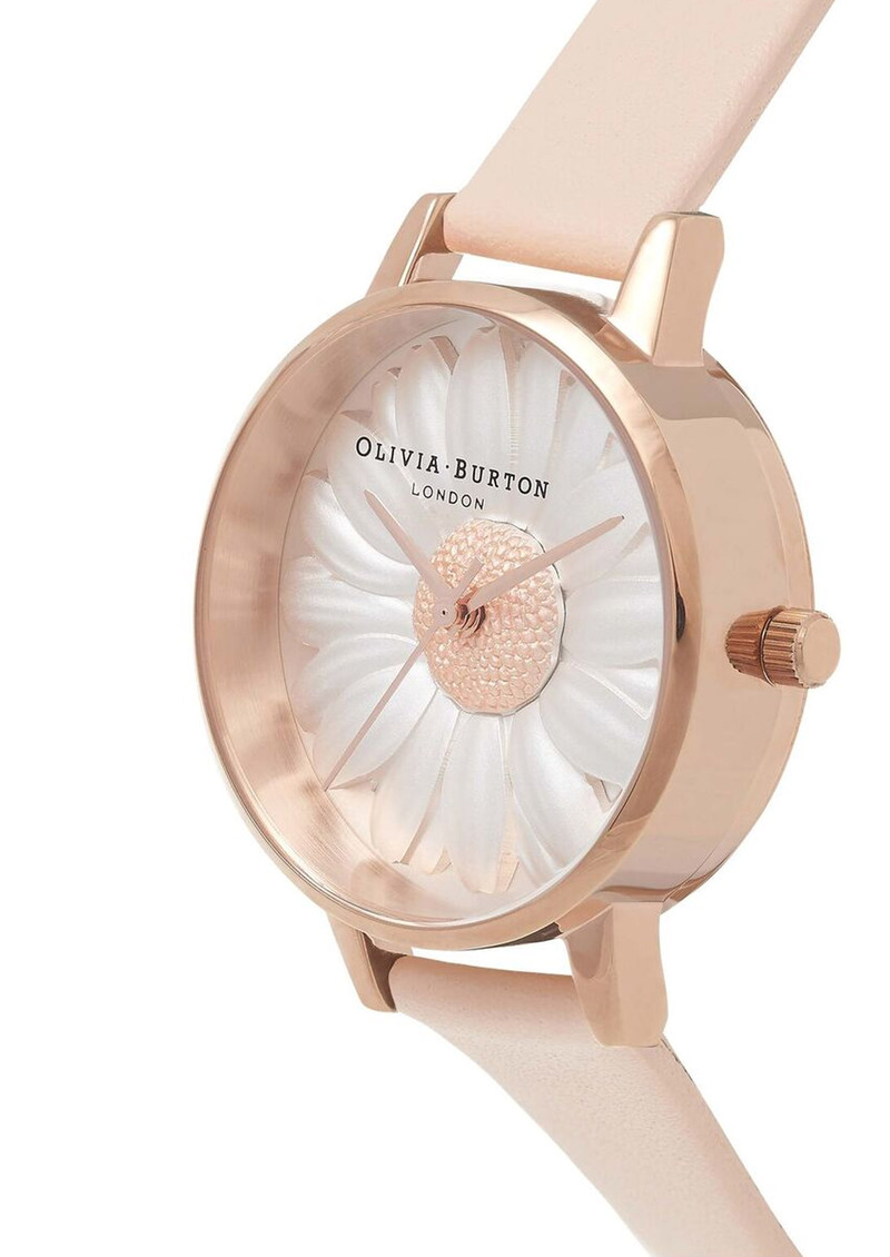 Flower Show 3D Daisy Watch - Nude Peach & Rose Gold main image