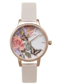 Olivia Burton Enchanted Garden Midi Dial Watch - Blush & Rose Gold