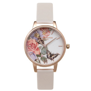 Enchanted Garden Midi Dial Watch - Blush & Rose Gold