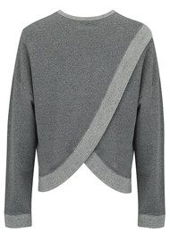 SUNDRY Cross Back Obsessed Sweater - Heather Grey