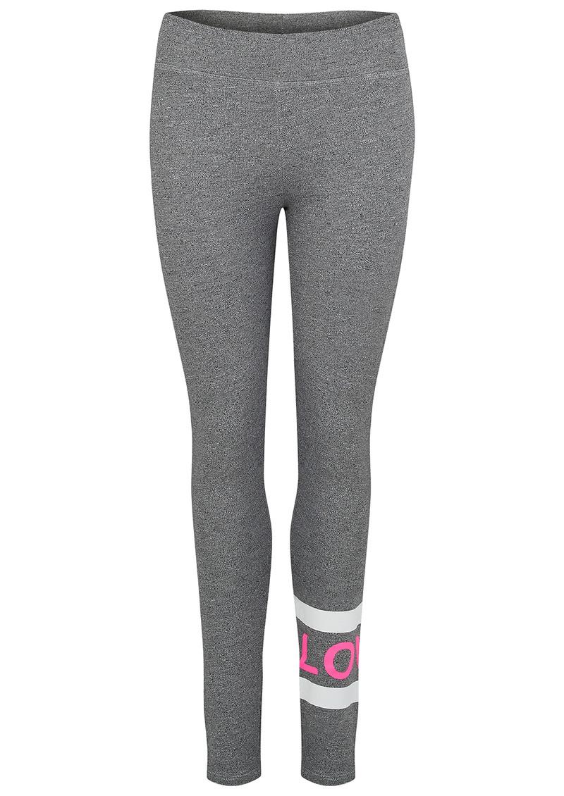 SUNDRY Love Stripe Yoga Pant - Heather Grey main image