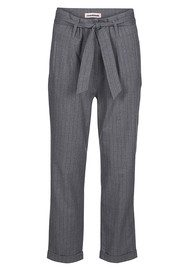 CUSTOMMADE Madelin Pinstripe Trousers - Grey Melange