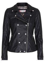 CUSTOMMADE Alicha Leather Jacket - Anthracite Black