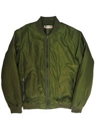 CUSTOMMADE Graizella Bomber Jacket - Thyme Green