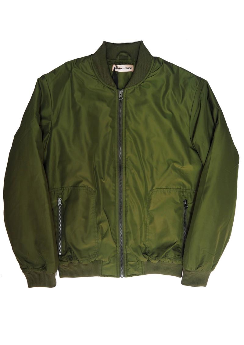 CUSTOMMADE Graizella Bomber Jacket - Thyme Green main image