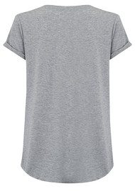SOUTH PARADE Valerie Pom Pom Pocket Tee - Heather Grey